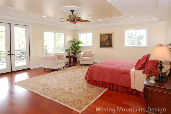 Los angeles home staging luxury new construction arcadia home Master bedroom home staging