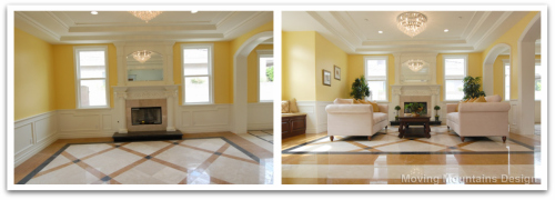 Los angeles home staging luxury new construction arcadia for Home staging before and after