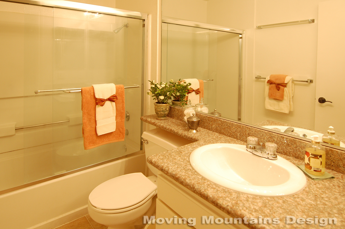 Bathroom Staging Home Staging In Pasadena For A Small Affordable Housing Condo