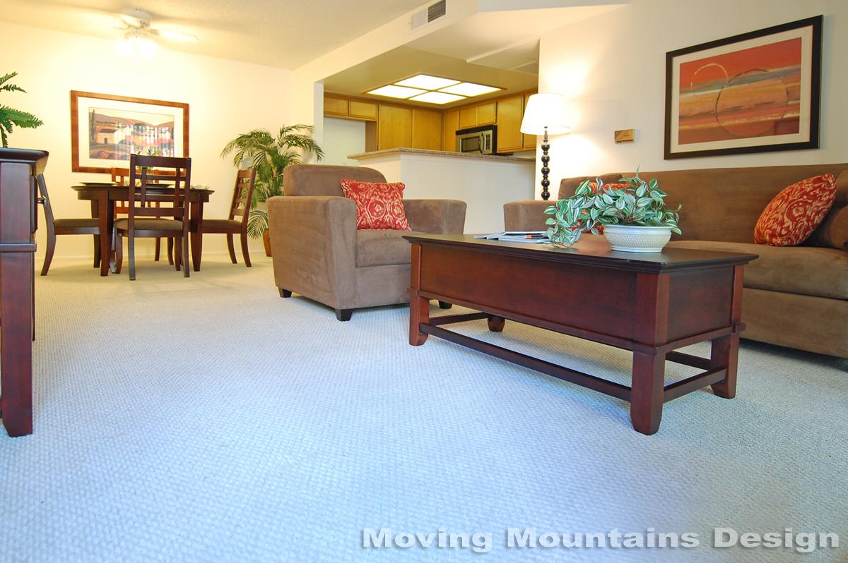 Pasadena Condo Home Staging Living Room ...