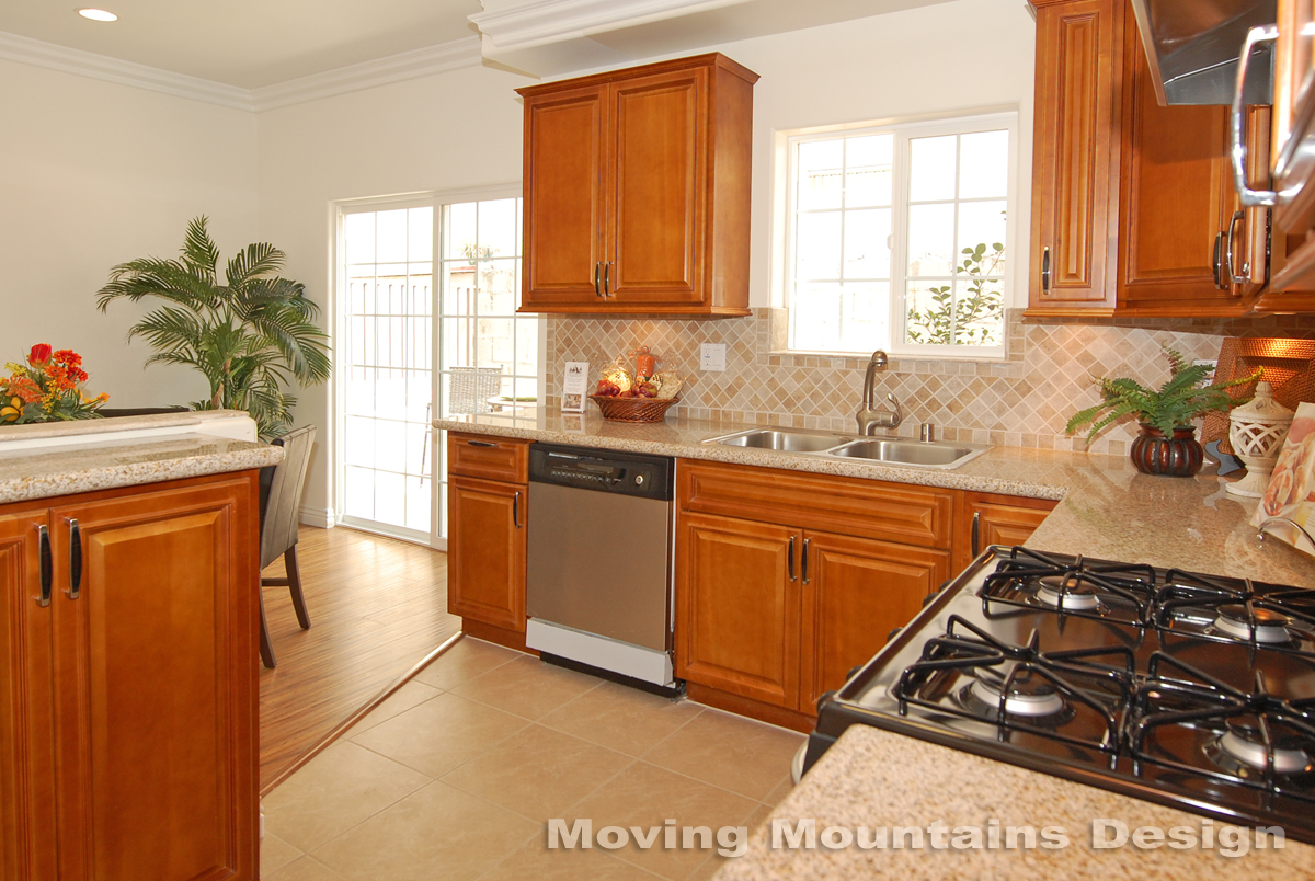 Kitchen Staging Los Angeles Model Home Staging 2 Glendale Condos Unit 102