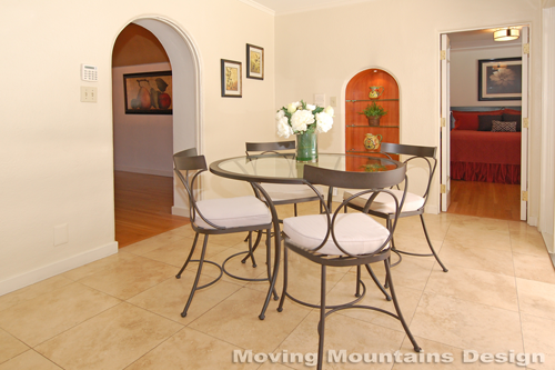 Larchmont Village home staging breakfast room