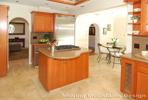 Larchmont Village home staging kitchen