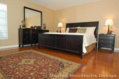 Pasadena home staging master bedroom