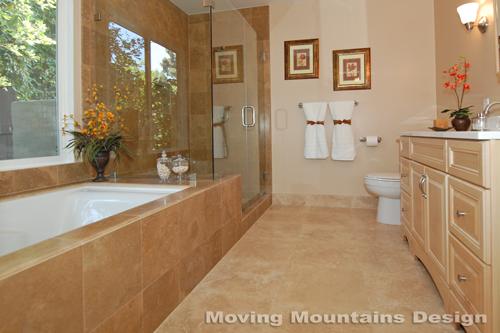Pasadena home staging master bathroom