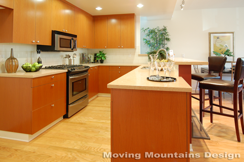 Los Angeles home staging modern loft home staging kitchen