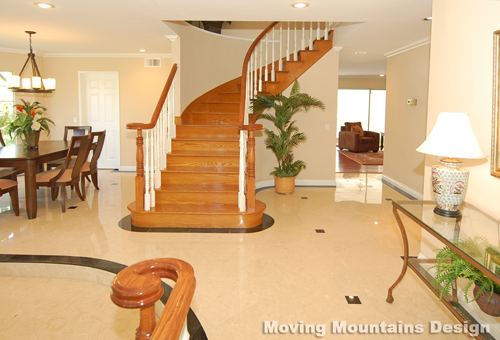 Walnut Home Staging Entry by Los Angeles home stagers Moving Mountains Design