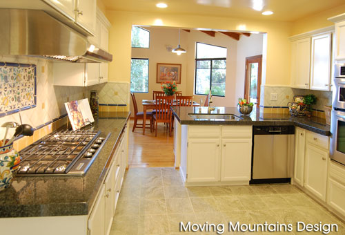 Sierra Madre kitchen after home staging remodel