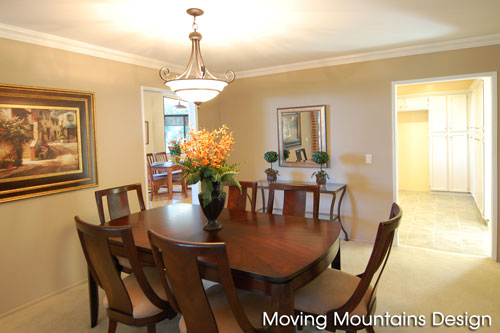 Home staging Sierra Madre dining room after staging