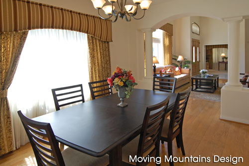 Dining room after home staging Hacienda Heights