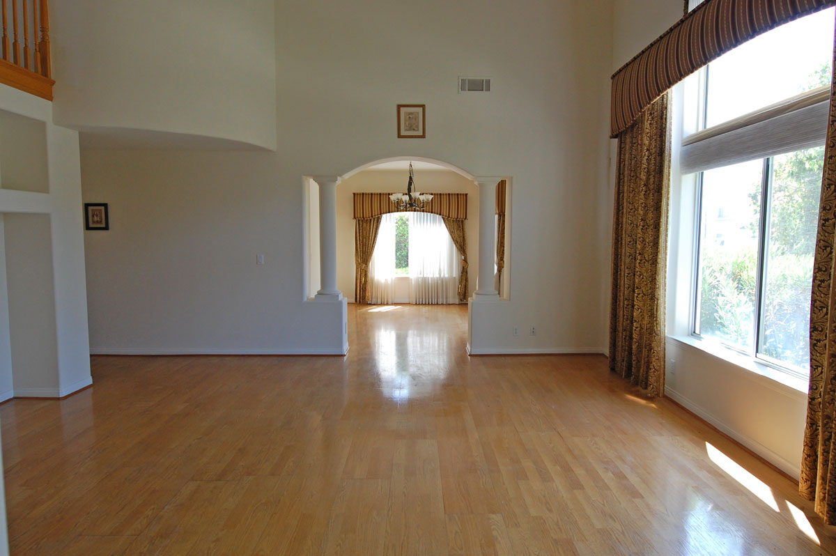 Living room before home staging Hacienda Heights