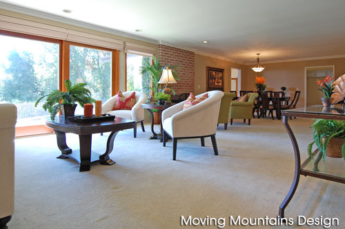 Home staging Sierra Madre living room after staging