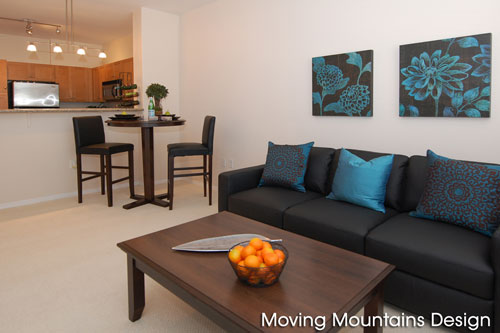 Downtown Los Angeles condo staging Little Tokyo