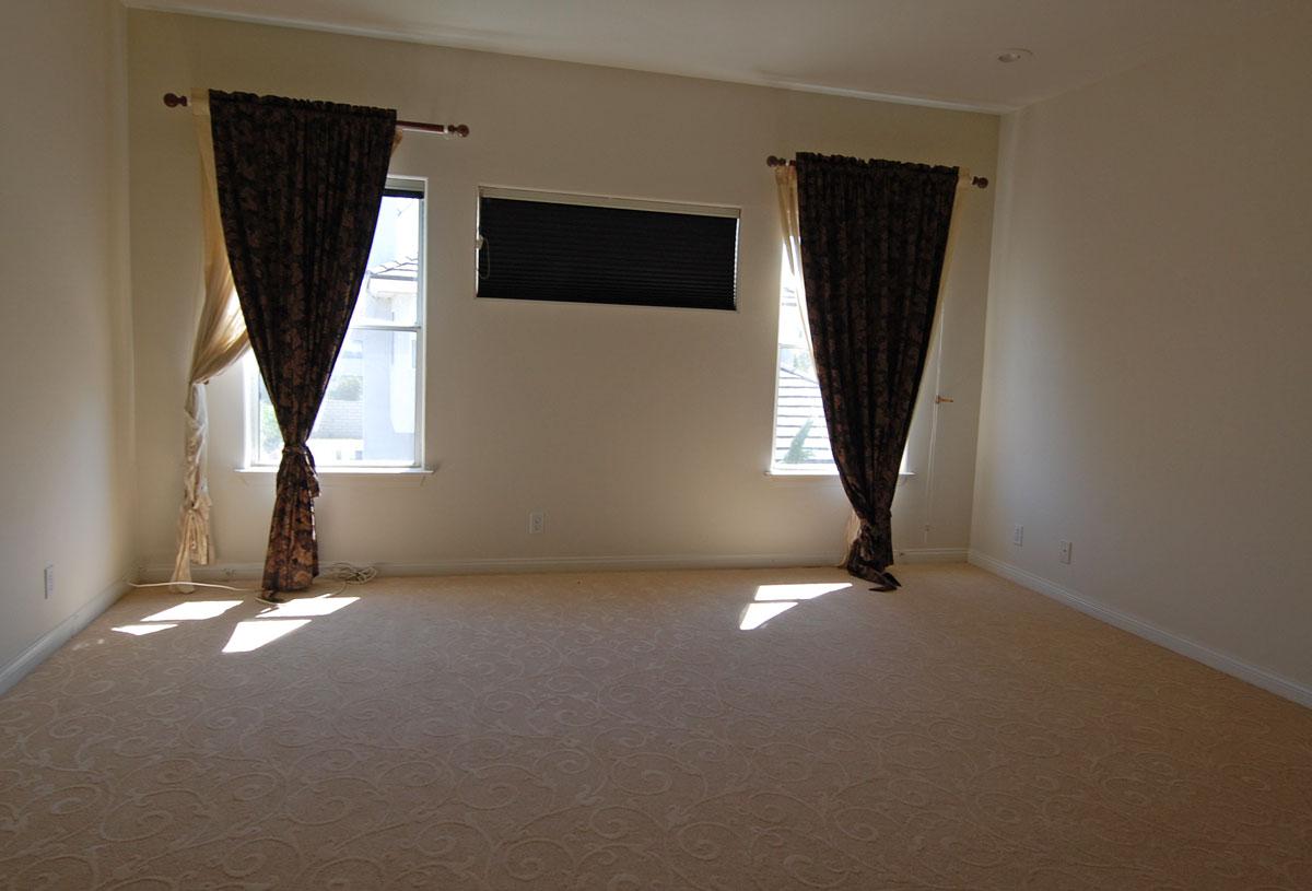 Master bedroom before home staging Hacienda Heights