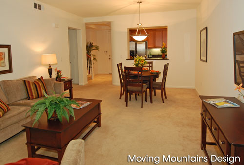 Pasadena Condo Home Staging by Moving Mountains Design