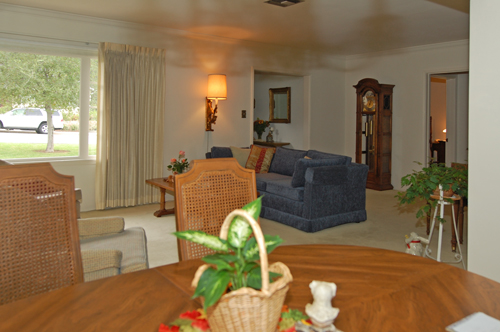 Dining Room & Living Room Before Home Staging