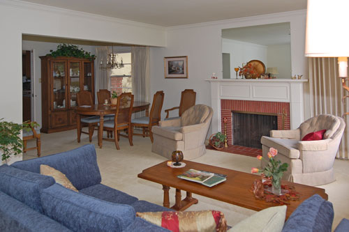 Living Room & Dining Room Before Home Staging
