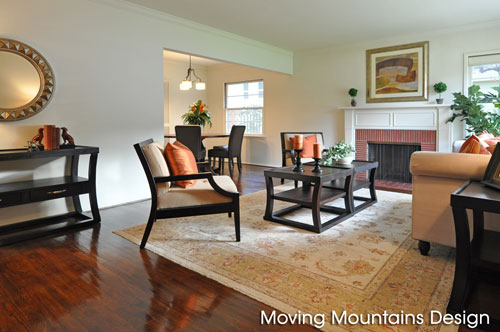 Living Room & Dining Room After Home Staging