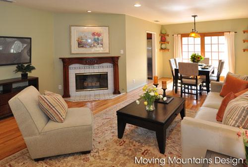 Photo of La Crescenta home staging living room after staging