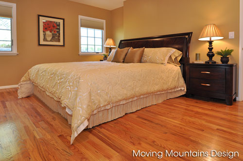 Photo of Master bedroom in staged La Crescenta home for sale