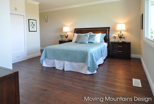 Redondo beach home staging a magnificent view home Master bedroom home staging