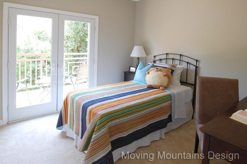 Boys bedroom after home staging