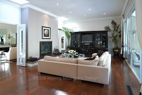 Family room after home staging