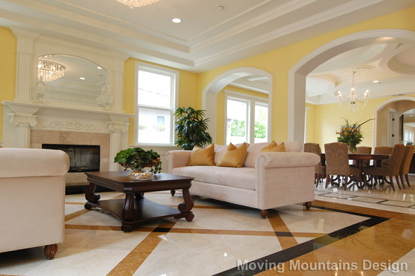 Living room and dining room after home staging