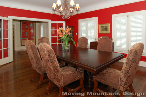Los Angeles home staging dining room Hancock Park