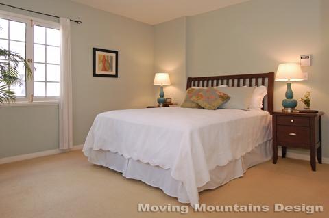 South Pasadena home staging a Tudor Cottage Master Bedroom