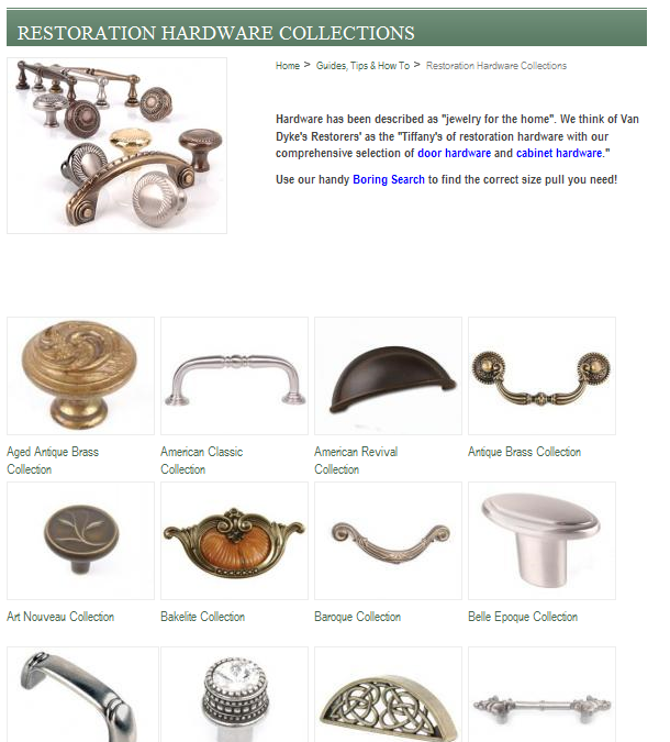 Van Dyke's Restorers Catalog for home stagers, real estate agents & remodelers
