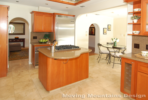 Larchmont Village home staging kitchen