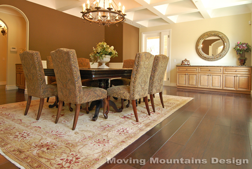 Pasadena Luxury home staging dining room