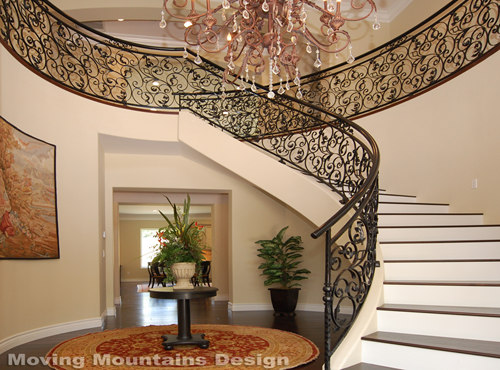 Pasadena Luxury home staging entry