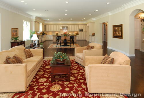 Pasadena Luxury home staging great room