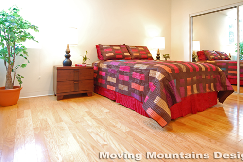 Los Angeles home staging modern loft home staging bedroom