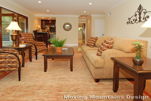San Marino home staging family room