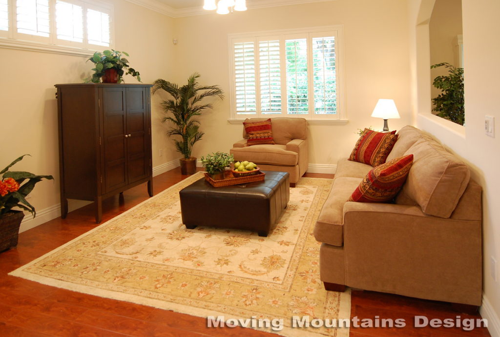Los Angeles home staging Valley Village home stager Family room