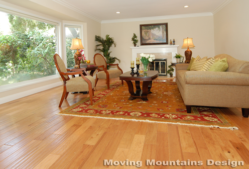 San Marino home staging living room