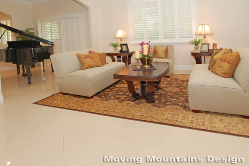 Los Angeles home staging Valley Village home stager living room