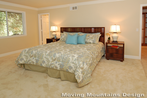 San Marino home staging master bedroom