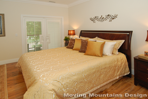 Los Angeles home staging Valley Village home stager master bedroom