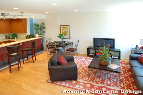 Los Angeles home staging modern loft home staging