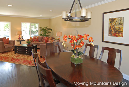 Los Angeles home staging a Chatsworth home dining room