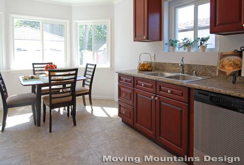San Gabriel home staging kitchen by Pasadena Home Stagers