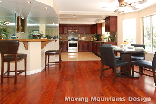 Walnut Home Staging Family Room by Los Angeles home stagers Moving Mountains Design
