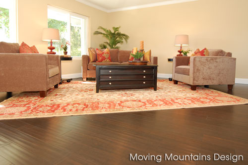Los Angeles home staging a Chatsworth home living room