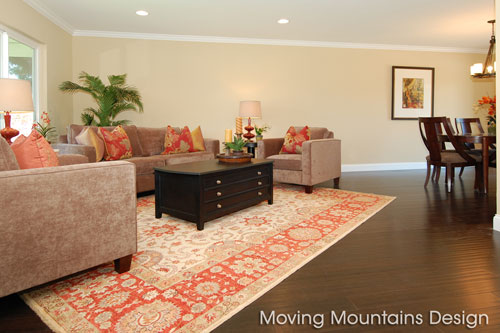 Home Stagers Los Angeles Chatsworth Living Room after home staging
