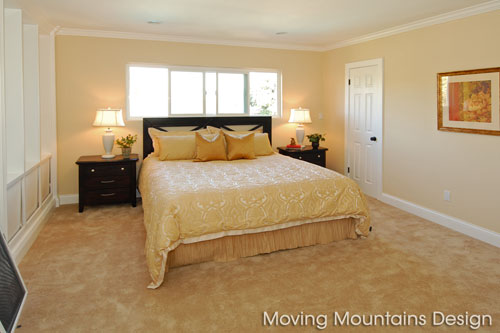 Los Angeles home staging a Chatsworth home master bedroom