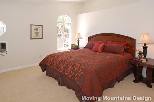 Master Bedroom Walnut CA Home Staging
